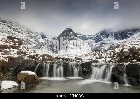 The fairy pools in winter - Stock Photo