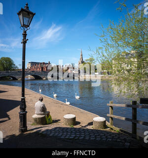 The River Greet Ouse in Bedford, Bedfordshire - Stock Photo
