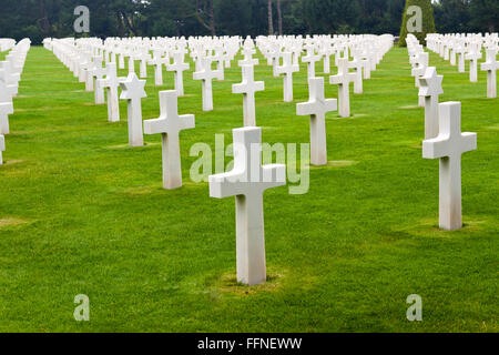 American Cemetery in Normandy - Stock Photo