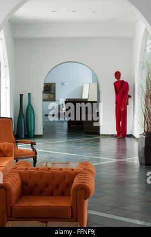 Griechenland, Kreta, Agios Nikolaos, Minos Beach Art Hotel, Eingangsbereich - Stock Photo