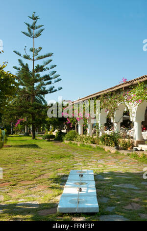 Griechenland, Kreta, Agios Nikolaos, Minos Beach Art Hotel, Restaurant - Stock Photo
