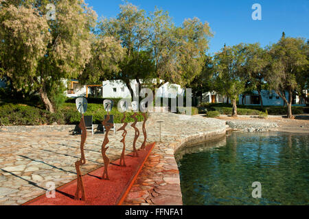 Griechenland, Kreta, Agios Nikolaos, Minos Beach Art Hotel, Garten - Stock Photo