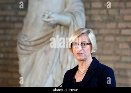 Rome, Italy. 16th February, 2016. Roberta Pinotti Rome 16th February 2016. Baths of Diocleziano. Cerimony for the - Stock Photo