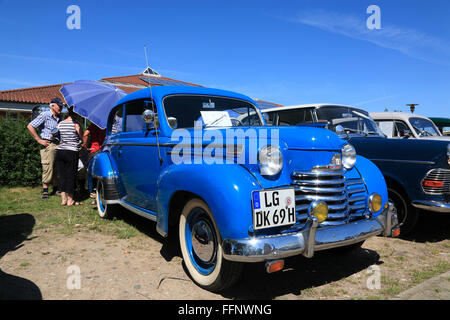 Oldtimer meeting, Opel Olympia, Bleckede / Elbe, Lower Saxony, Germany, Europe - Stock Photo