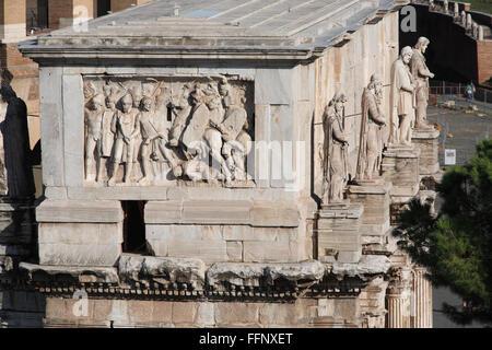The Arch of Constantine in Rome, Italy; Arco Di Constantino, Roma - Stock Photo