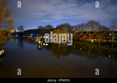 Looking over the River Thames from the Caversham, Reading bridge, Berkshire, UK. (Edited) Charles Dye/Alamy Live - Stock Photo