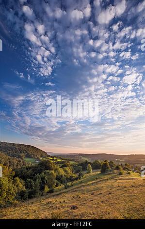 View of Painswick Valley from Cranham, Gloucestershire - Stock Photo