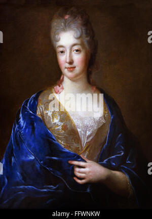 Portrait of a Lady by  François de Troy 1645 - 1730 Paris France French - Stock Photo
