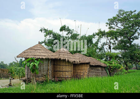 Huts in Heritage village life , Vaishali to Kesariya , Bihar , India - Stock Photo