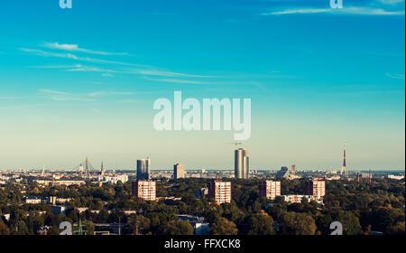 Riga skyline. Latvia, Northern Europe - Stock Photo