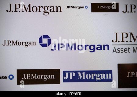 Markenname: 'JP Morgan', Dezember 2013, Berlin. - Stock Photo
