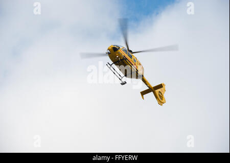 A Eurocopter EC 135T2e operated by Bond Helicopters and used by the East Anglian Air Ambulance (EAAMB) charity. - Stock Photo