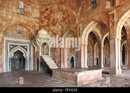 Interior view of jama masjid  ; Mandu ; Dhar ; Madhya Pradesh ; India - Stock Photo