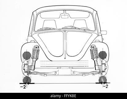 transport / transportation, car, vehicle variants, Volkswagen, VW 1303 beetle, working drawing, 1974, Additional - Stock Photo