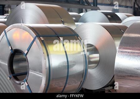 Galvanised Steel Sheet India - Stock Photo