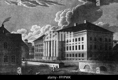 geography / travel, Estonia, Tartu, buildings, university, main building, built by Johann Wilhelm Krause (1757  - Stock Photo