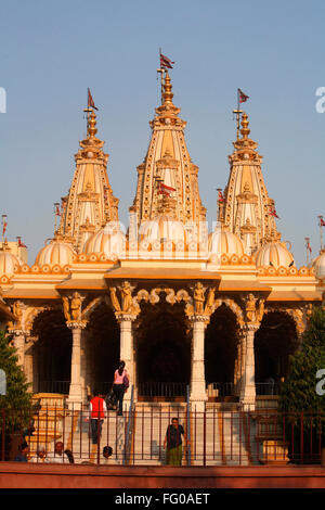 Shri Swaminarayan mandir ; Ahmedabad ; Gujarat ; India - Stock Photo