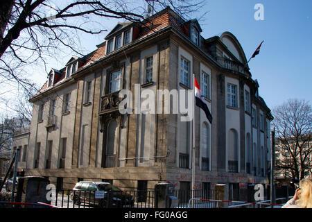 syrische Botschaft, Berlin-Tiergarten /Embassy of Syria, Berlin. - Stock Photo