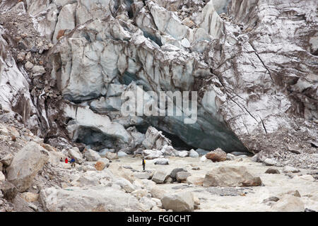 Gaumukh mighty river Ganga Gangotri Uttarakhand India Asia - Stock Photo