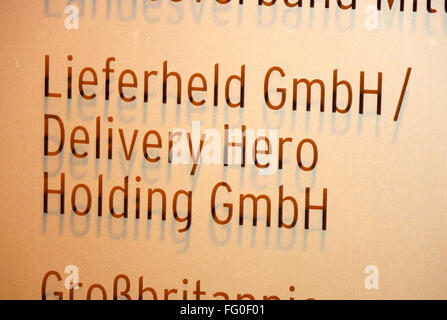 Markenname: 'Lieferheld' 'Delivery Hero', Berlin. - Stock Photo
