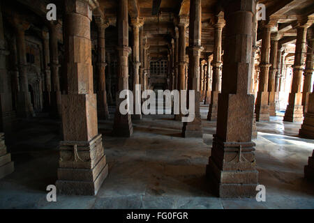 Inside jama masjid in 1423 AD ; Ahmedabad ; Gujarat ; India - Stock Photo