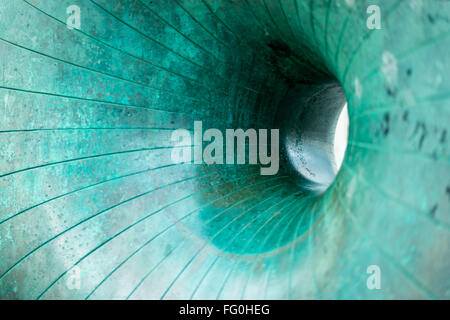 'Afloat'  (aka the doughnut) bronze sculpture by Hamish Black on one of the seafront groynes near the Palace Pier, - Stock Photo