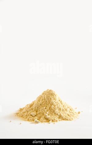 Indian herb , Ashwagandha Churna powder ayurvedic medicine on white background - nvm 205897 - Stock Photo