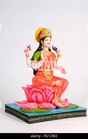 Statue of goddess laxmi ; India - Stock Photo
