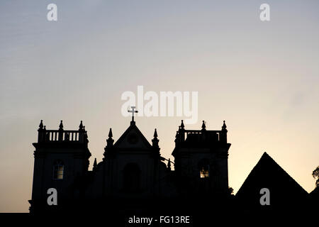 Sunrise at Church Of St. John Of God , UNESCO World Heritage Site , Old Goa , Velha Goa , India - Stock Photo