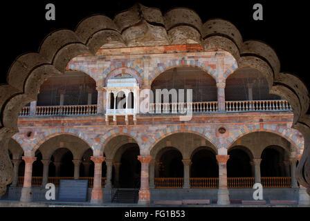 Darbar hall inside rajwada , Indore , Madhya Pradesh , India - Stock Photo