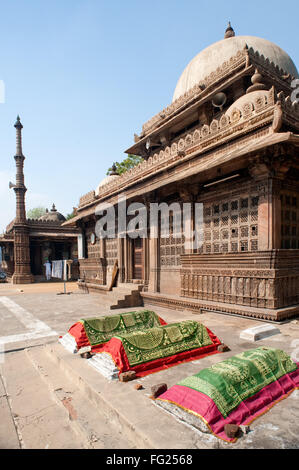 Tomb of rani sipri's mosque ; Ahmedabad ; Gujarat ; India - Stock Photo