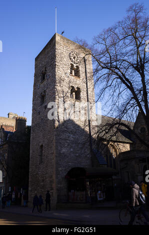 Saxon built tower, over a thousand years old, at the church of St Michael, city of Oxford, England. - Stock Photo