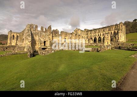 Rievaulx Abbey  the North York Moors National Park - Stock Photo