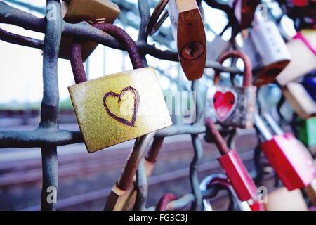 Love Locks On Hohenzollern Bridge - Stock Photo
