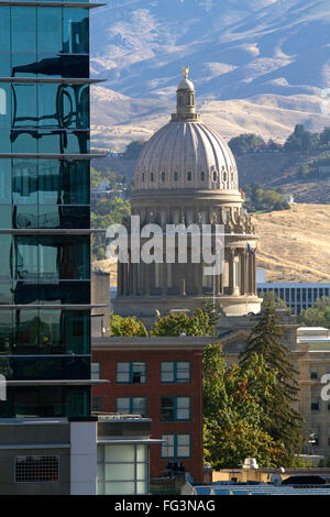 Idaho state capitol building in downtown Boise, Idaho, USA. - Stock Photo