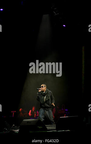 American artist Jay-Z , Jay Z headlining the Pyramid Stage at Glastonbury Festival 2008, Somerset, England, United - Stock Photo
