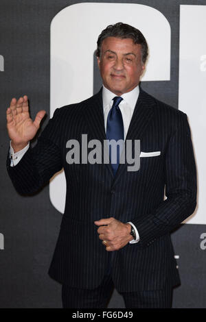 The European Premiere of 'Creed'  held at the Empire Leicester Square - Arrivals  Featuring: Sylvester Stallone - Stock Photo