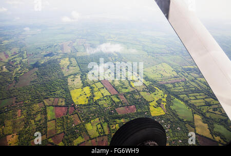 Aerial view of landscape near Managua; Nicaragua - Stock Photo