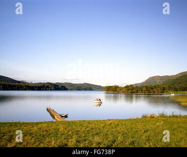 Shores of Loch Ard in Loch Lomond and The Trossachs National Park, Stirling District, Scotland, United Kingdom - Stock Photo