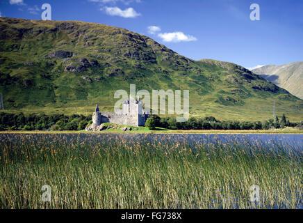 Ruins of Kilchurn Castle on Loch Awe, Argyll and Bute, Scotland, United Kingdom - Stock Photo