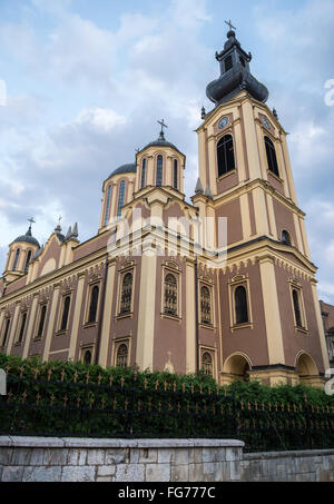 Cathedral Church of the Nativity of the Theotokos Serbian Orthodox Cathedral in Sarajevo, Bosnia and Herzegovina - Stock Photo