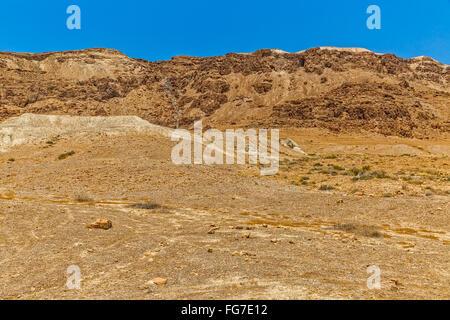 Israel sandstone desert landscape - Stock Photo