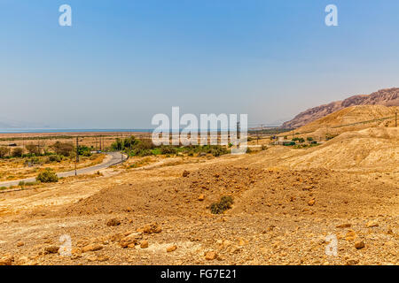 Israel sandy road - Stock Photo