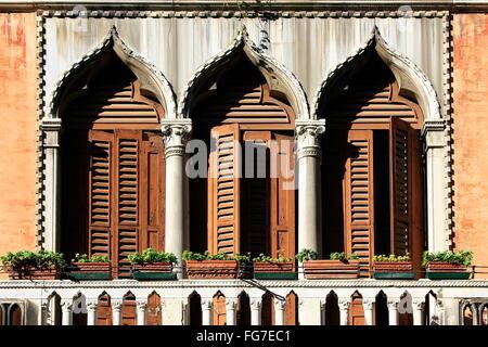 geography / travel, Italy, Venetia, Venice, San Marco Quarter, Calle de Fruttarol, facade, detail, window, Additional - Stock Photo