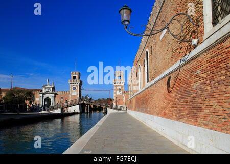 geography / travel, Italy, Venetia, Venice, Castello Quarter, Arsenale, Fondamenta de L'Arsenal, entrance, Additional - Stock Photo