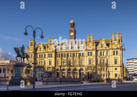 The Old Post Office, City Square, Leeds, West Yorkshire, England, UK, on a sunny winter day - Stock Photo