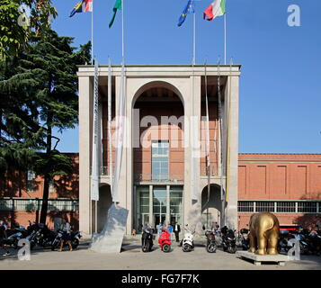 geography / travel, Italy, Lombardy, Milan, museum, Triennale design museum, main-entrance, Additional-Rights-Clearance - Stock Photo