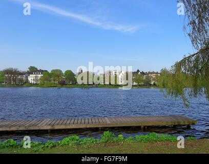 geography / travel, Germany, Hamburg, Outer Alster, , Additional-Rights-Clearance-Info-Not-Available - Stock Photo