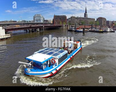 geography / travel, Germany, Hamburg, inland port, Otto-Sill-Brücke (bridge), Additional-Rights-Clearance-Info-Not - Stock Photo
