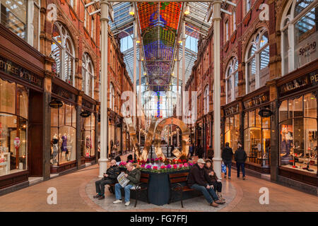County Arcade, Victoria Quarter, Leeds, West Yorkshire, England, UK - Stock Photo